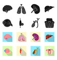 isolated object body and human sign collection vector image vector image