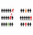 leadership symbols vector image vector image