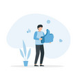 man holds big thumbs up sign successful social vector image vector image