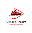 Modern shoe game logo