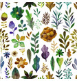 pattern with flowers and plants floral vector image vector image