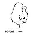 poplar icon outline style vector image vector image