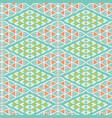 pretty geometric daisy diamond damask pattern vector image vector image