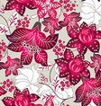 Red tropical floral pattern vector image vector image