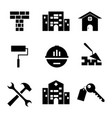 set building icon vector image vector image