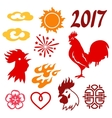 Set of symbols 2017 by Chinese calendar vector image vector image