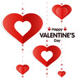 valentine s day greeting vector image vector image
