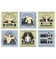 Vintage Body Building Poster Set vector image