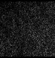 white grainy texture template on black background vector image vector image