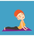 Woman practicing yoga upward dog pose vector image vector image