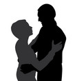 couple hugging dancing and talking vector image
