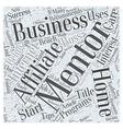 A Mentor Can Make You a Smashing Success Word vector image vector image