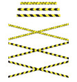 a variety yellow caution tapes in format for vector image vector image