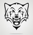 Angry Wolf Tribal vector image vector image