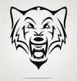 angry wolf tribal vector image