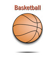 basketball ball icon vector image vector image