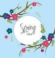 beautiful spring tree icon vector image vector image