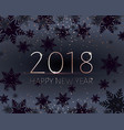 black new years banner gold 2018 inscription vector image