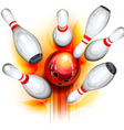 Bowling game top view vector | Price: 1 Credit (USD $1)