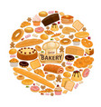 bread and pastry sweets for bakery shop vector image vector image