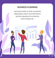 business planning analysis tablet banner vector image vector image