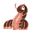 cartoon smiling millipede vector image