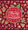 christmas greeting postcard colorful vector image