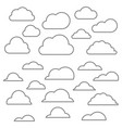 cloud line icon vector image vector image