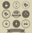 coffee and donut label design vector image vector image
