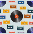 composition of laser discs vinyl and cassette vector image