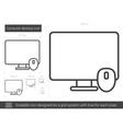 Computer desktop line icon