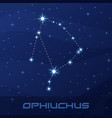 constellation ophiuchus serpent holder vector image vector image