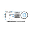 cryptocurrency investment concept icon vector image vector image