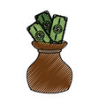cute bag to save cash money vector image vector image