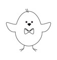 cute chicken icon vector image vector image