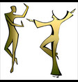 dancing spanish couple vector image vector image