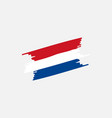 flag netherlands brush vector image vector image