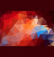 flat red triangle bright red and blue gradient vector image
