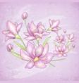 flower purple card vector image