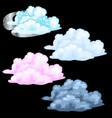 four cloud different colors storm cloud and snow vector image vector image