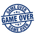 game over blue round grunge stamp vector image vector image