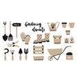 garden tool elements spade vector image