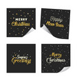 gold glitter lettering paper design stickers vector image