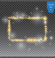 golden frame with lights effects shining vector image vector image