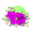 graphical black flower vector image vector image