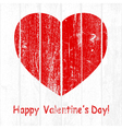 Grunge Wooden Valentine vector image vector image