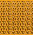 halloween orange festive seamless pattern vector image