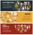 happy new year 2019 web pages with text sample vector image vector image