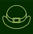 hat stpatrick s day vector image vector image