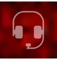headphones icon on blurred background vector image